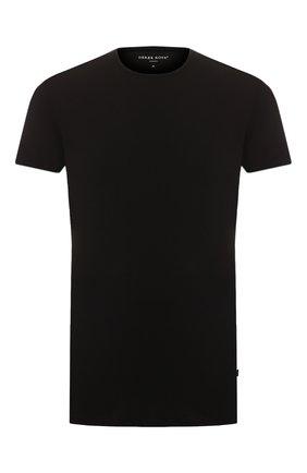 Мужские хлопковая футболка с круглым вырезом DEREK ROSE черного цвета, арт. 8005-JACK001 | Фото 1