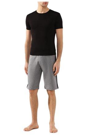 Мужская хлопковая футболка с круглым вырезом DEREK ROSE черного цвета, арт. 8005-JACK001 | Фото 2