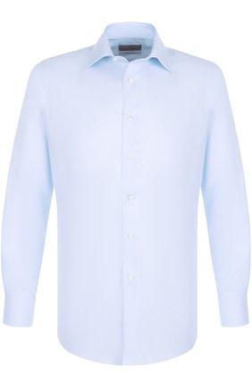 Мужская хлопковая сорочка с воротником кент CANALI голубого цвета, арт. N705/GD00392/CS/LF | Фото 1