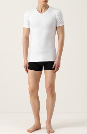 Хлопковая футболка с круглым вырезом | Фото №2
