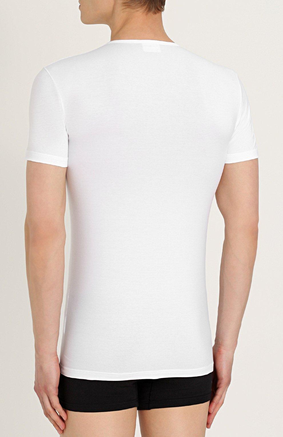 Хлопковая футболка с круглым вырезом   Фото №4