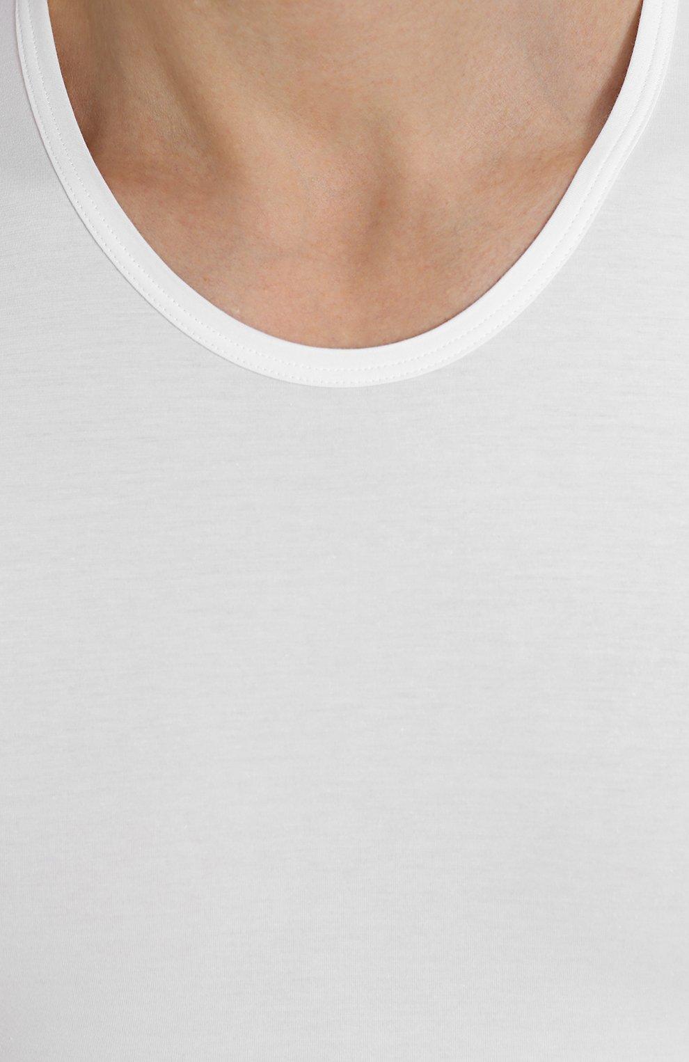 Хлопковая футболка с круглым вырезом   Фото №5