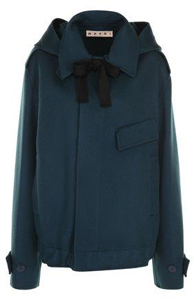 Шерстяная куртка с капюшоном