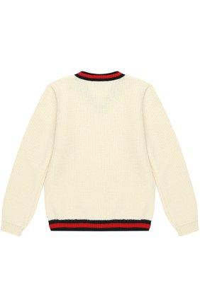 Кашемировый пуловер с контрастной отделкой | Фото №2