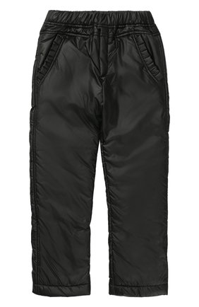 Детского утепленные брюки с эластичным поясом ALETTA черного цвета, арт. AF777318/9A-16A | Фото 1