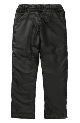 Детского утепленные брюки с эластичным поясом ALETTA черного цвета, арт. AF777318/9A-16A | Фото 2