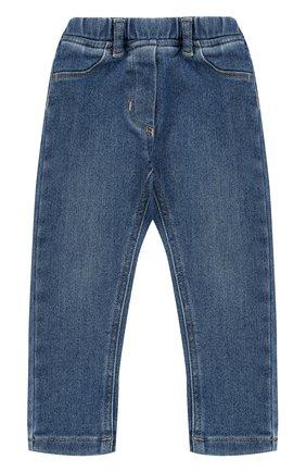 Детские джинсы прямого кроя с эластичной вставкой на поясе IL GUFO синего цвета, арт. A17PL210JC021/12M-18M | Фото 1