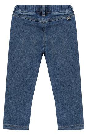 Детские джинсы прямого кроя с эластичной вставкой на поясе IL GUFO синего цвета, арт. A17PL210JC021/12M-18M | Фото 2