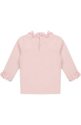 Пуловер из эластичного хлопка с оборками | Фото №2
