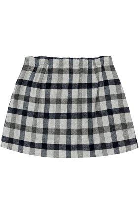 Мини-юбка с принтом и складками | Фото №2