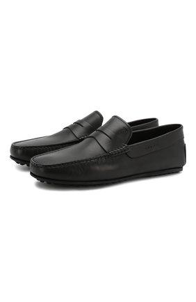 Мужские кожаные мокасины TOD'S черного цвета, арт. XXM0LR00011D90B999 | Фото 1