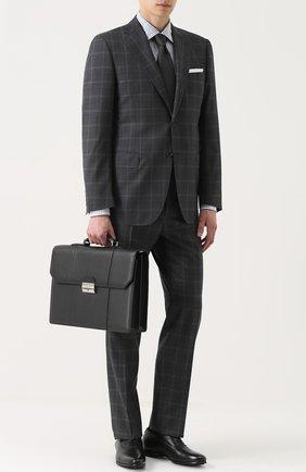 Кожаный портфель с плечевым ремнем | Фото №2