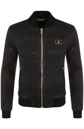 Стеганая куртка на молнии с шерстяными манжетами