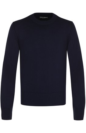 Шерстяной однотонный джемпер Dolce & Gabbana синий | Фото №1