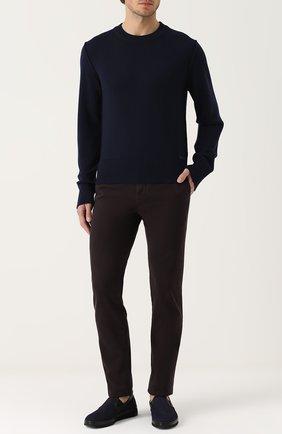 Шерстяной однотонный джемпер Dolce & Gabbana синий | Фото №2