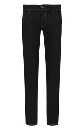 Зауженные джинсы с контрастной прострочкой Dolce & Gabbana синие | Фото №1