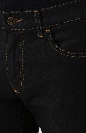 Зауженные джинсы с контрастной прострочкой Dolce & Gabbana синие | Фото №5