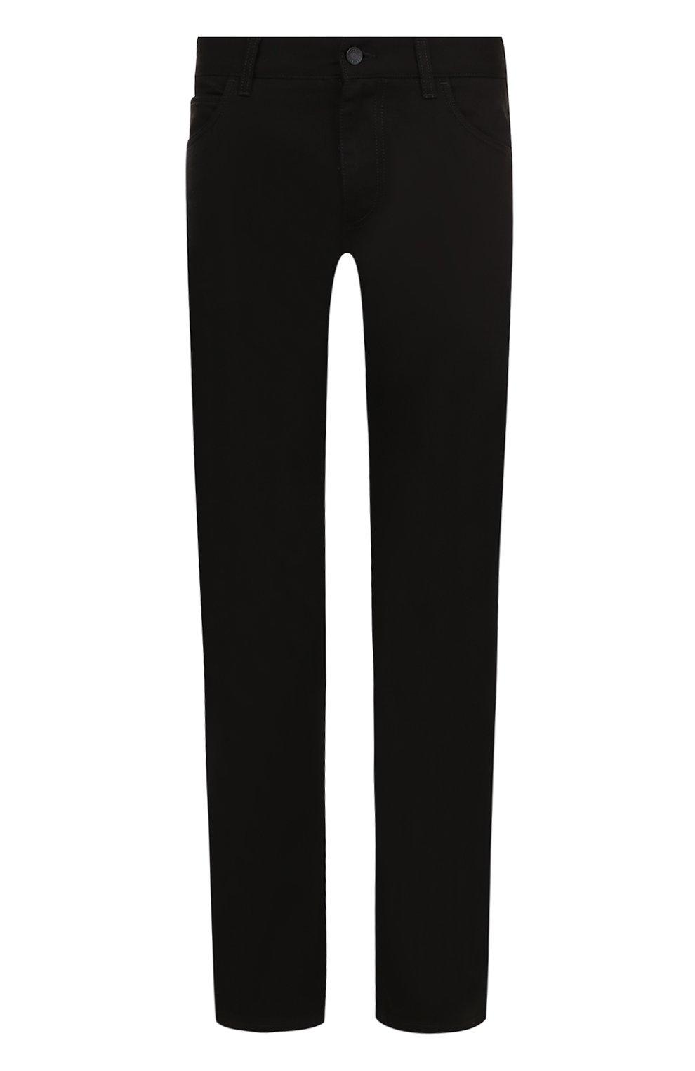 Однотонные джинсы прямого кроя  | Фото №1