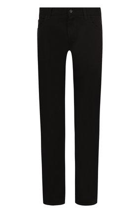 Однотонные джинсы прямого кроя  Dolce & Gabbana черные | Фото №1