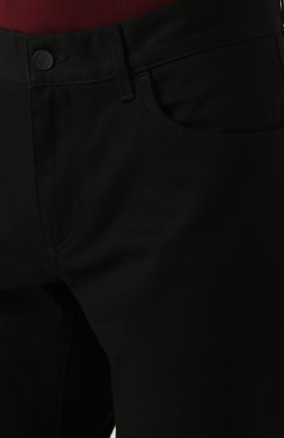 Однотонные джинсы прямого кроя  Dolce & Gabbana черные | Фото №5