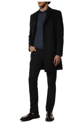 Мужское поло из шерсти и шелка GRAN SASSO синего цвета, арт. 57132/13190 | Фото 2
