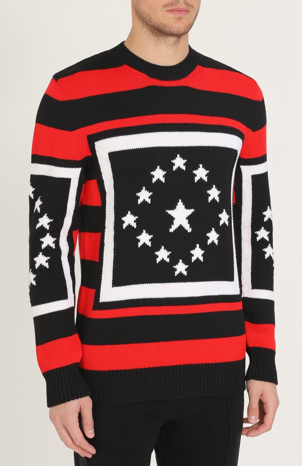 Шерстяной свитер в контрастную полоску | Фото №3