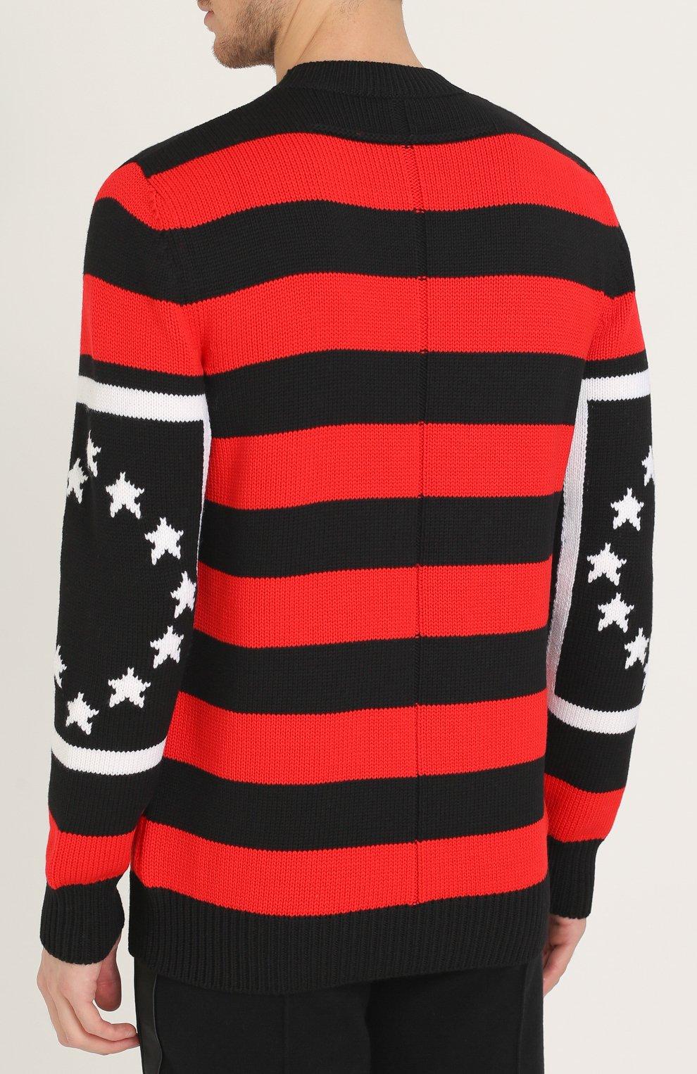 Шерстяной свитер в контрастную полоску | Фото №4