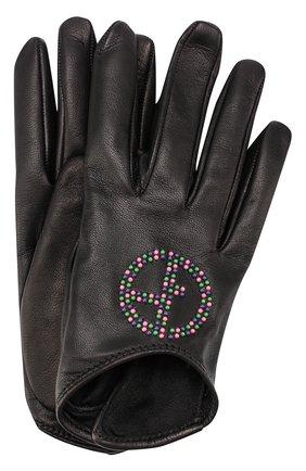 Кожаные перчатки с декоративной отделкой | Фото №1