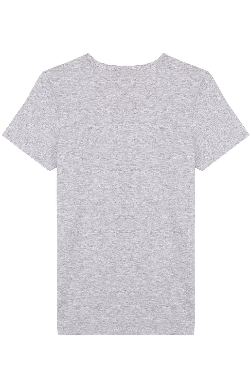 Хлопковая футболка Sanetta серого цвета   Фото №2