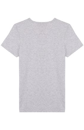 Детская хлопковая футболка SANETTA серого цвета, арт. 344685 | Фото 2