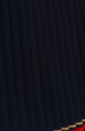 Плиссированная юбка с контрастной отделкой | Фото №3