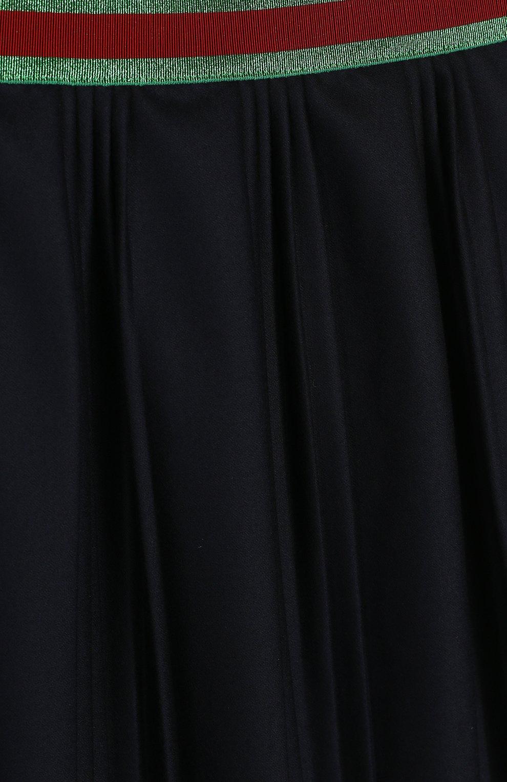 Плиссированная юбка с контрастным поясом | Фото №3