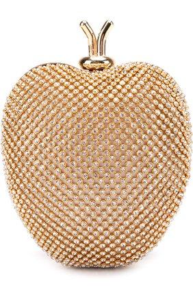 Клатч со стразами на цепочке David Charles золотого цвета | Фото №1