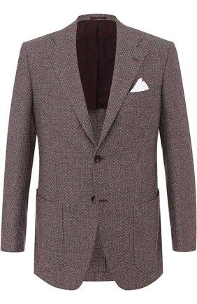 Кашемировый однобортный пиджак