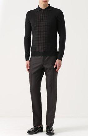 Мужские кожаные пенни-лоферы TOD'S черного цвета, арт. XXM0UD0K130AKTB999 | Фото 2