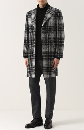 Однобортное пальто из смеси шерсти и кашемира с шелком | Фото №2