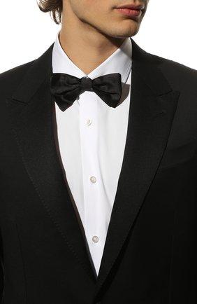 Мужской шелковый галстук-бабочка CANALI черного цвета, арт. 02/HJ00040 | Фото 2