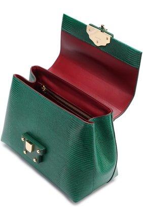 Сумка Lucia из тисненой кожи Dolce & Gabbana зеленая цвета   Фото №4