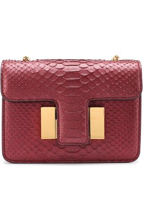 Женская сумка sienna из кожи питона TOM FORD бордового цвета, арт. L0844T-P38   Фото 1