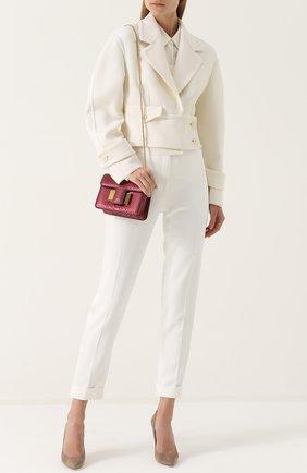 Женская сумка sienna из кожи питона TOM FORD бордового цвета, арт. L0844T-P38   Фото 2