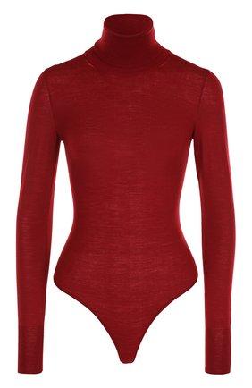 Женское шерстяное боди ALAIA красного цвета, арт. 7W9UA61RM012 | Фото 1