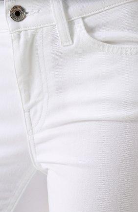 Однотонные джинсы прямого кроя Dolce & Gabbana белые | Фото №5