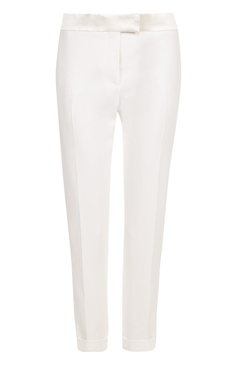 Укороченные брюки с лампасами и отворотами | Фото №1