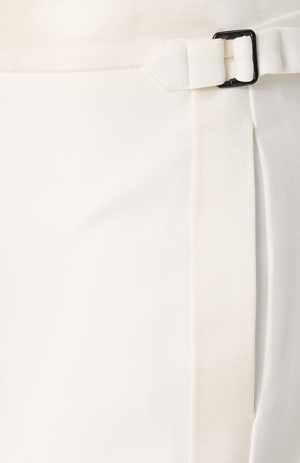 Укороченные брюки с лампасами и отворотами | Фото №5