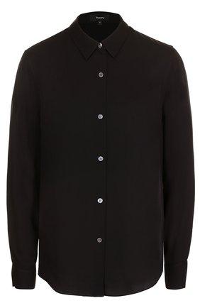 Приталенная шелковая блуза | Фото №1