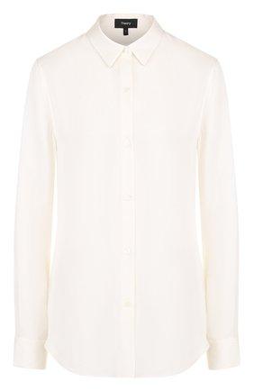 Приталенная шелковая блуза   Фото №1