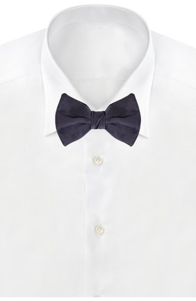 Мужской шелковый галстук-бабочка GIORGIO ARMANI темно-синего цвета, арт. 360031/7A998 | Фото 2