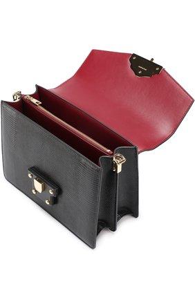 Сумка Luciaиз тисненой кожи Dolce & Gabbana черная цвета | Фото №4