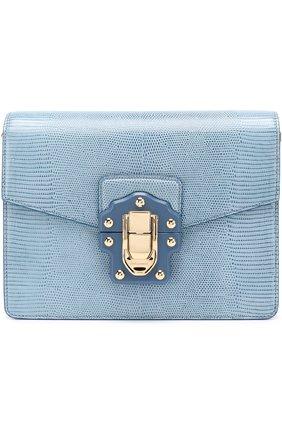 Сумка Luciaиз тисненой кожи Dolce & Gabbana голубая цвета   Фото №1
