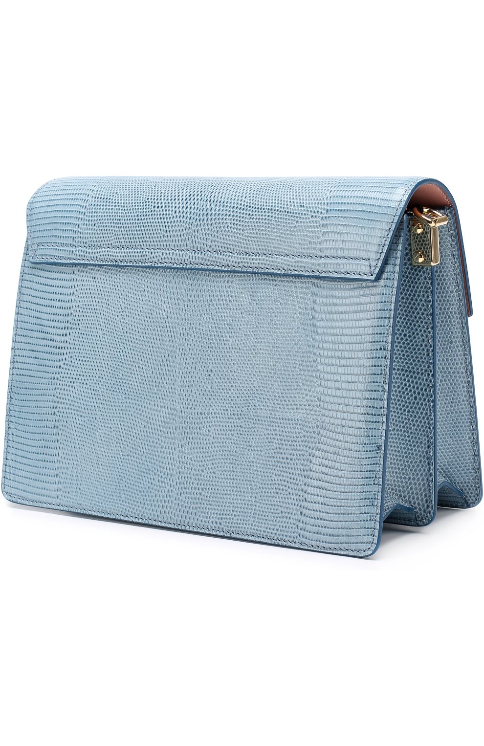 Сумка Luciaиз тисненой кожи Dolce & Gabbana голубая цвета   Фото №3